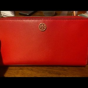 Tory Burch Red Purse With Matching Wallet